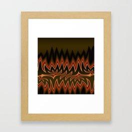 Fractal Tribal Art in Autumn Framed Art Print
