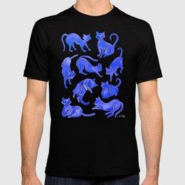 Cat Positions – Blue Palette T-shirt