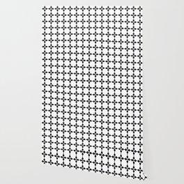 Droplets Pattern - White & Black Wallpaper