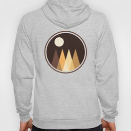 Coffee Sky with Creamy Moon on Capuccino Forest Hoody