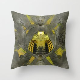 Cobra Sacred Geometry Digital Art Throw Pillow
