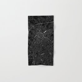 Charlotte Black Map Hand & Bath Towel