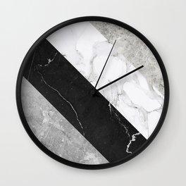 Contemporary Marble Stone Rays Wall Clock