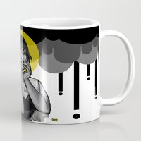 cigarettes Mugs featuring Saint of Soggy Cigarettes  by mazzaroo