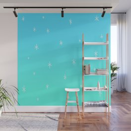 Frozen Icy Snowy Ombre Design! Wall Mural
