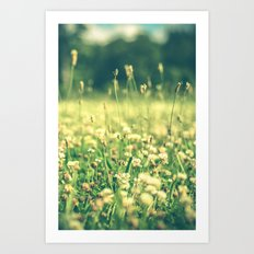 My Heart Was Wrapped in Clover (the night I looked at you) Art Print