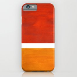 Burnt Orange Yellow Ochre Mid Century Modern Abstract Minimalist Rothko Color Field Squares iPhone Case