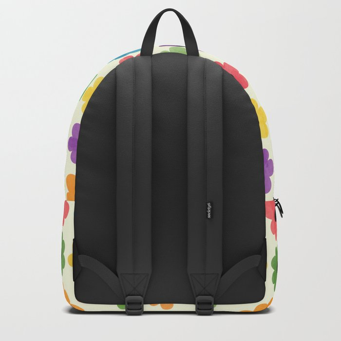 Colorful Floral Pattern IV Backpack