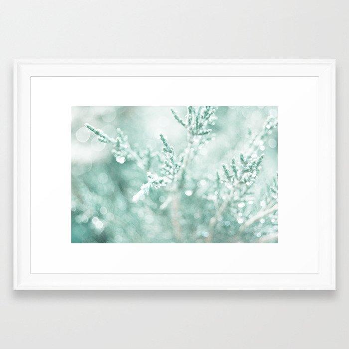 Evergreen Bokeh Framed Art Print