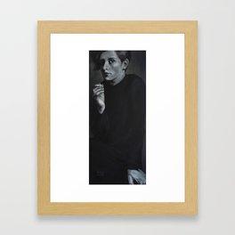 A Smoking Girl Framed Art Print