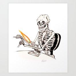 Skelly Flamerworker Art Print