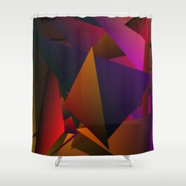 Smoke Screen Abstract 4 Shower Curtain
