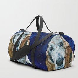 Basset Hound Nebula Stickers Dog Portrait Duffle Bag