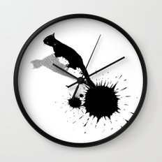 Inkcat2 Wall Clock