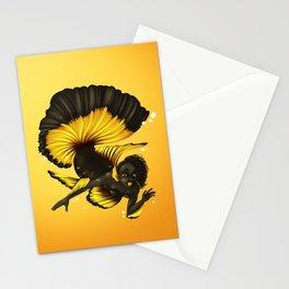 Beta fish mermaid Stationery Cards