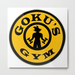 Work Out Training Goku's Gym Dragonball Metal Print