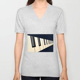 Piano Keys Perspective Unisex V-Neck