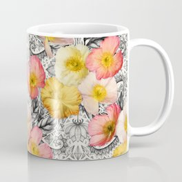 Collage of Poppies and Pattern Coffee Mug