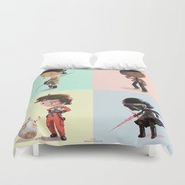 Space Pals (and Facehat Guy) Duvet Cover
