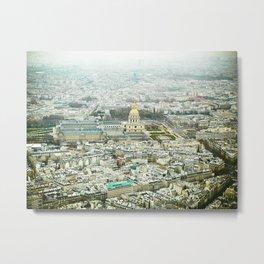 Golden Paris Metal Print
