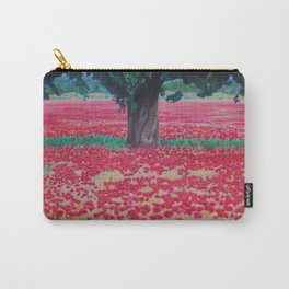 Olive Tree in Poppy Field Carry-All Pouch