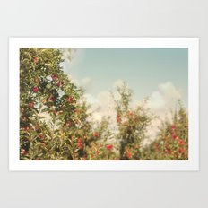 Orchard Blue Art Print