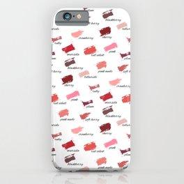 Lipstick colors iPhone Case