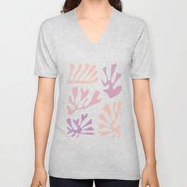 Rose-Coloured Cut-Outs Unisex V-Neck