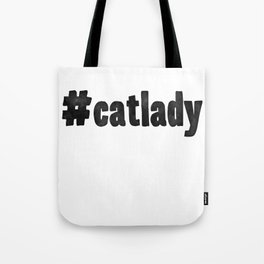 #CatLady Watercolor Tote Bag