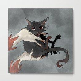 Naughty Vampire Cat Metal Print