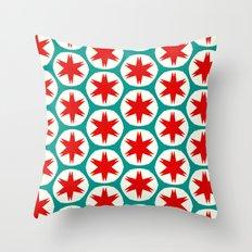 Retro Red Stars II Throw Pillow