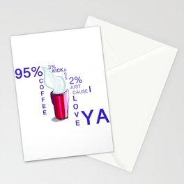 2% tshirt coffee Stationery Cards