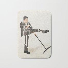Typography Art of Tom Waits Bath Mat