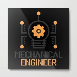 Mechanical Engineer Metal Print