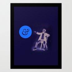 A Stern Ampersand Art Print