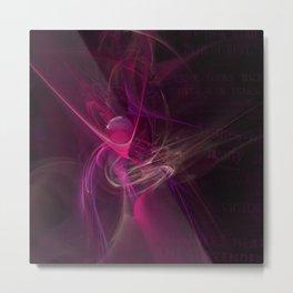 Pink swirl Metal Print
