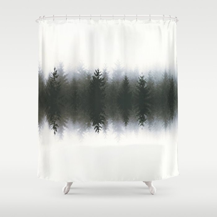 Sound Waves Woods Shower Curtain By Hunterofwoods