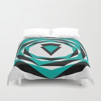 arya Duvet Covers featuring Decahedron Hexagon combined! by Hinal Arya