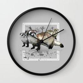 Ferrets Wall Clock