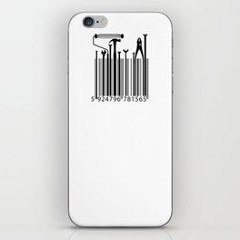 Funny Worker Tradesman Barcode Tool iPhone Skin