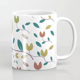 Stylized Flowers Entwine Coffee Mug