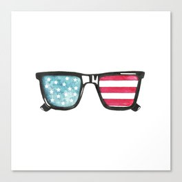 American Flag Sunnies Canvas Print