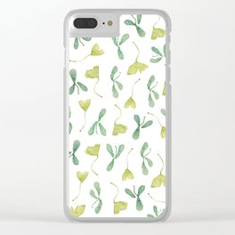 """Watercolor Painting of Picture """"Green Leaves"""" Clear iPhone Case"""