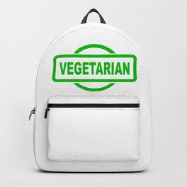 Vegetarian Green Rubber Stamp Backpack