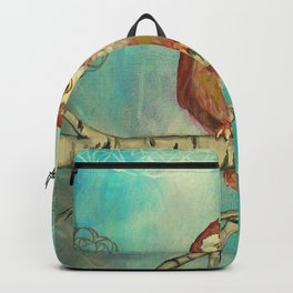 Blue Birch Owl Backpack
