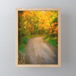 Path Traveled to Autumn Framed Mini Art Print