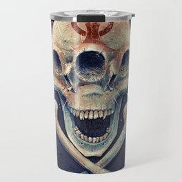 Biohazard triple eye skull Travel Mug