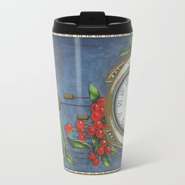 Best Wishes for a Vintage New Year Travel Mug