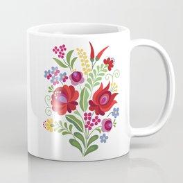 Hungarian Folk Design Red Peppers Coffee Mug