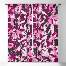 Pink alcohol camouflage Blackout Curtain